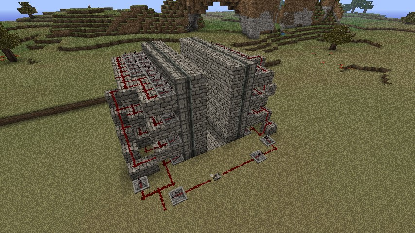 Completely hidden piston wall without sand / gravel ...