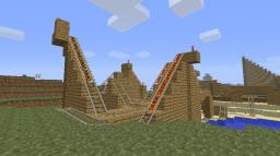Simple rollercoaster Minecraft Map & Project