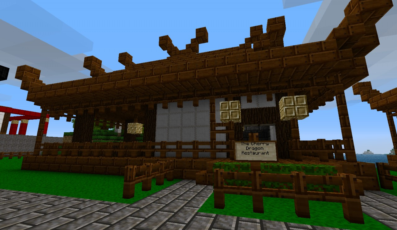 Japanese Town Minecraft Project