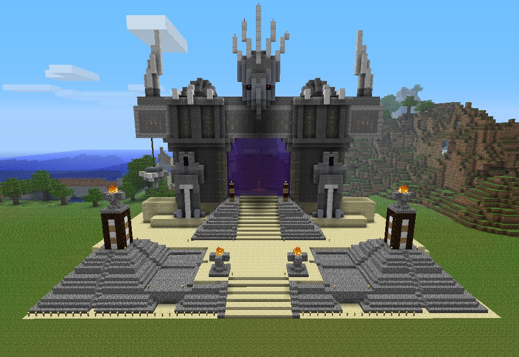 Massive nether gate minecraft project