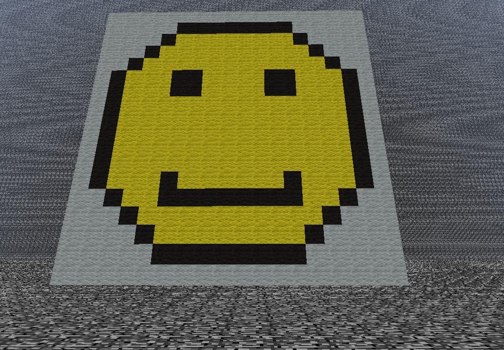 Smile face pixel art Minecraft Project