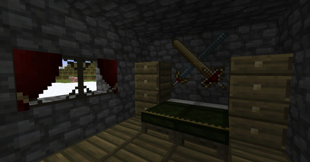 An interior, using our in-house texture pack.
