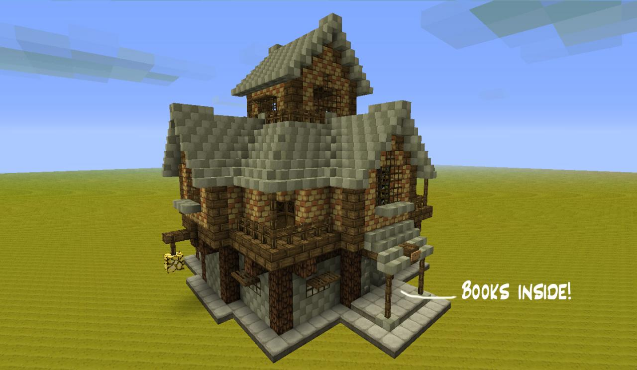 Medieval buildings rpg style minecraft project for Minecraft 3d blueprint maker
