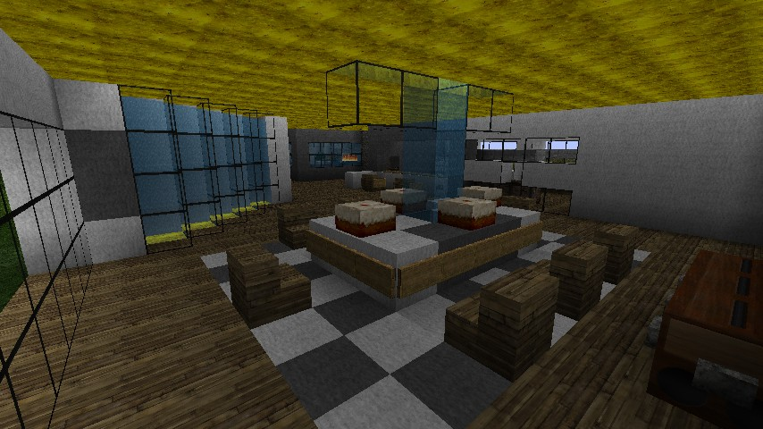 Modern luxury mansion minecraft project for Minecraft dining room designs