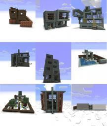 Modernist Buildings Pack- NOW WITH 9 BUILDINGS! Minecraft Project