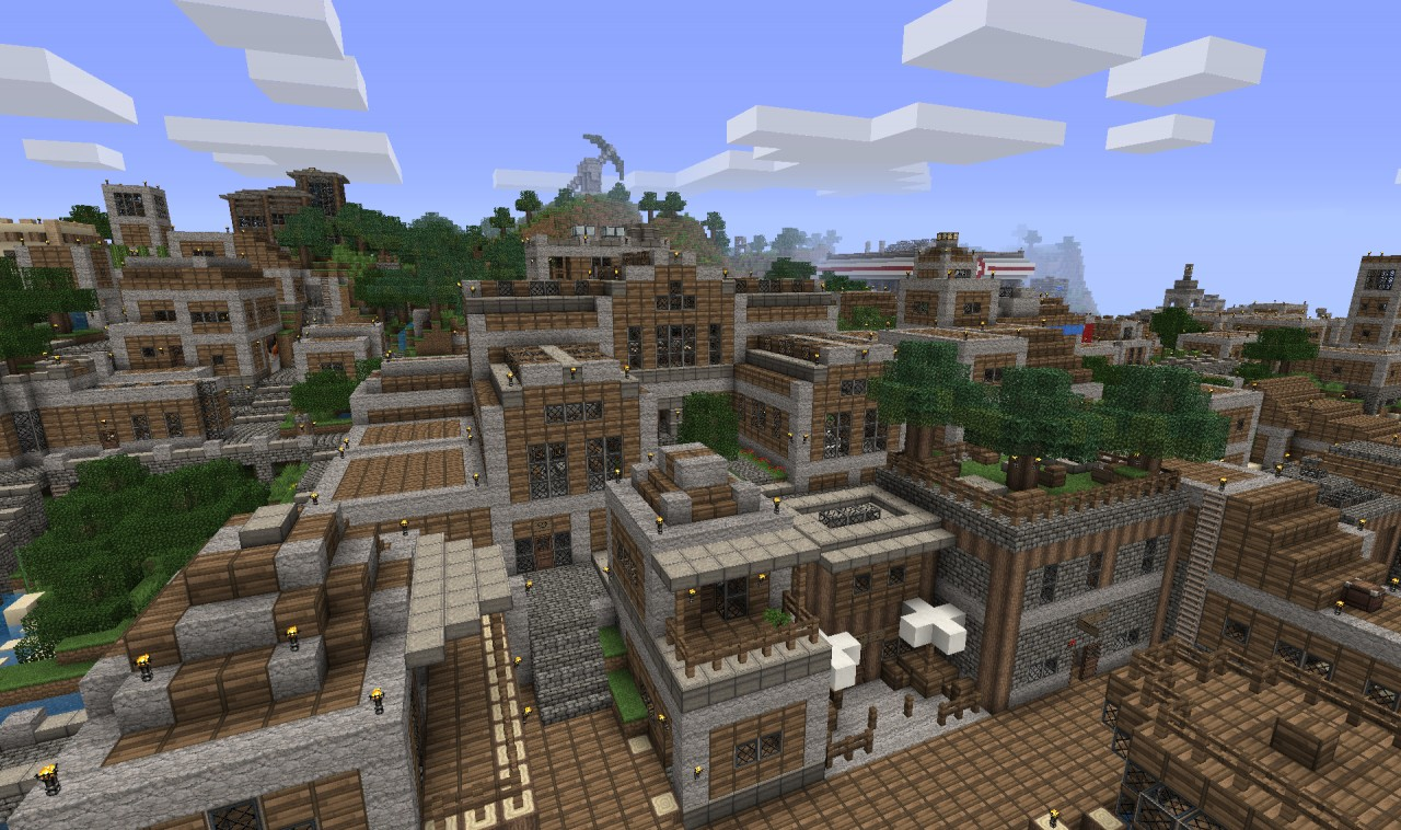 Countless hours devoted to the ultimate Minecrafy city experience.