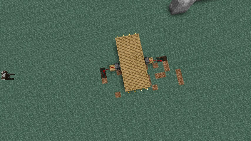 how to make a double piston door in minecraft