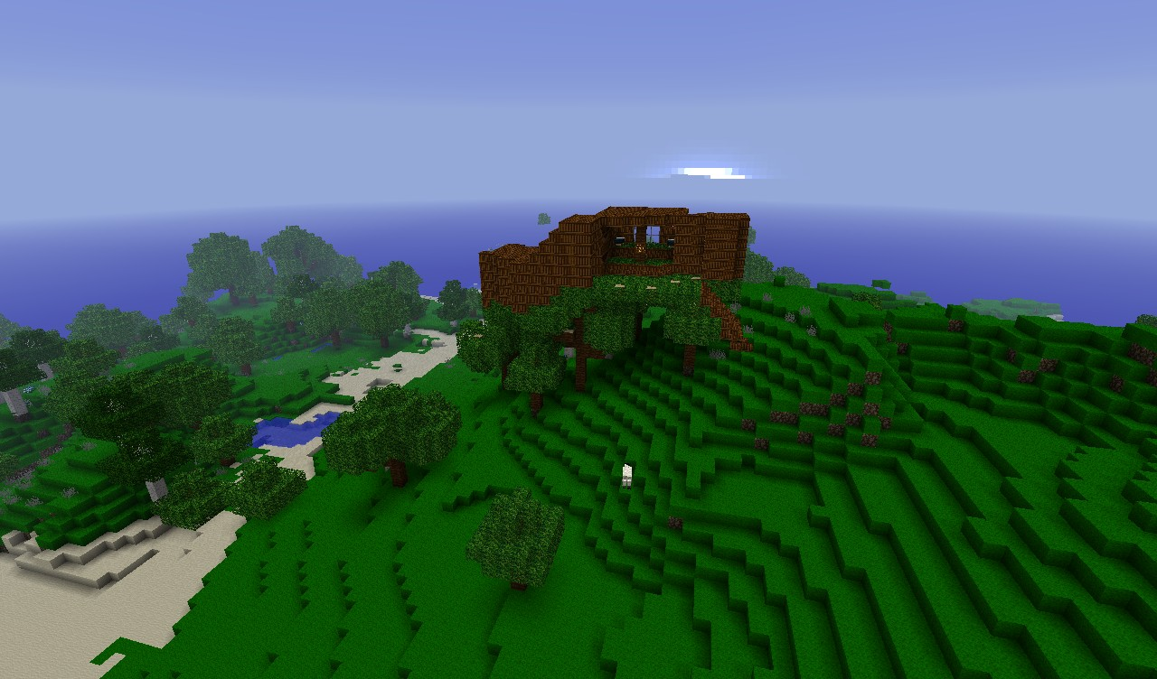 Cool little treehouse Minecraft Project