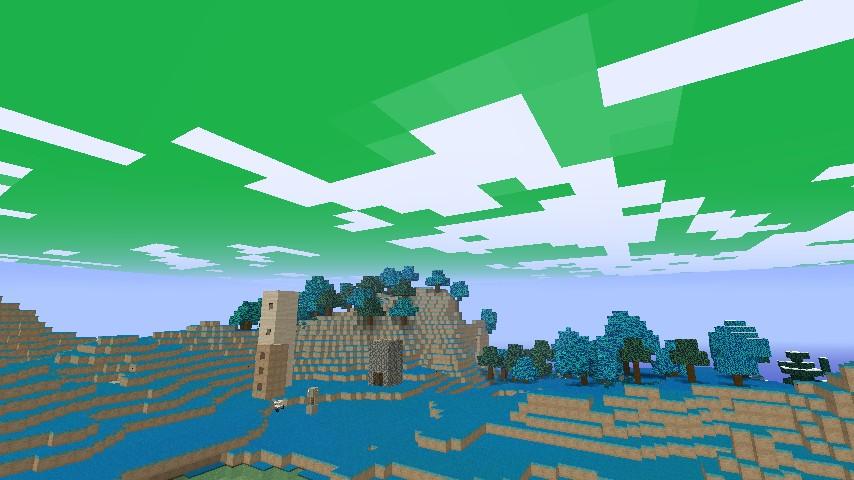 added green skies! (: