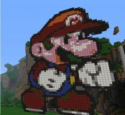 Pixel Art: Mario Minecraft Map & Project