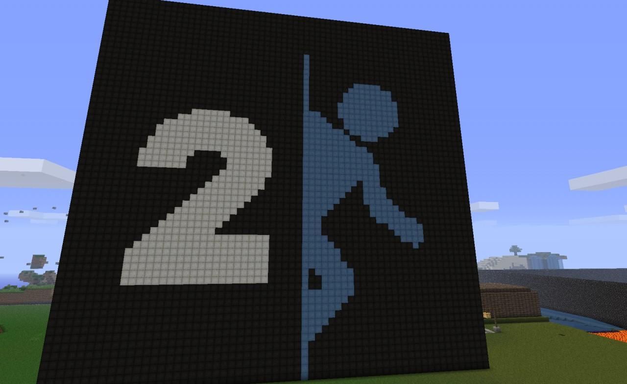 pixel art portal 2
