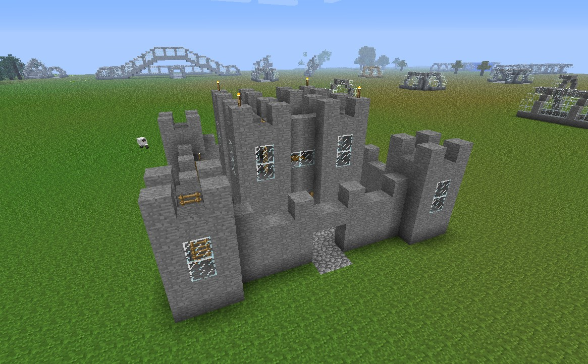 Simple minecraft castle Castles Walls and Towers Pinterest
