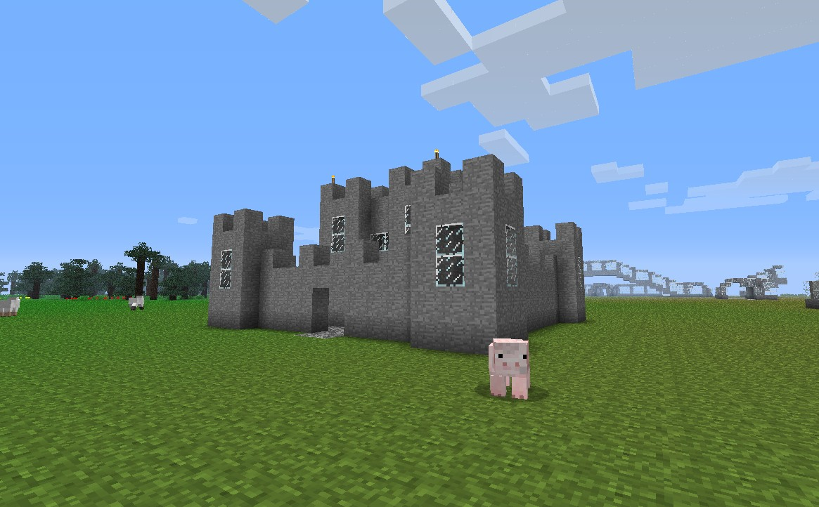 Minecraft Simple Castle Layout The