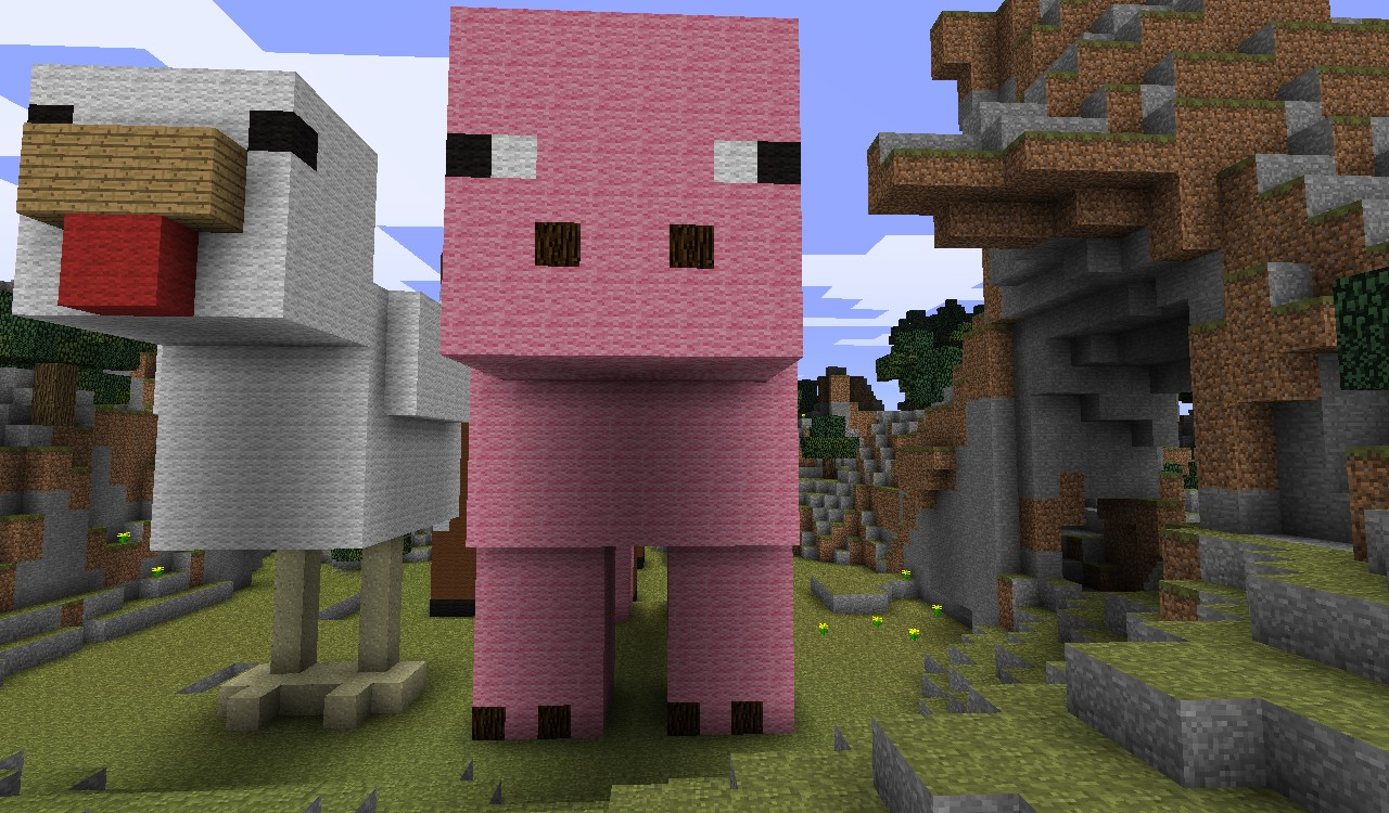 how to catch a pig in minecraft