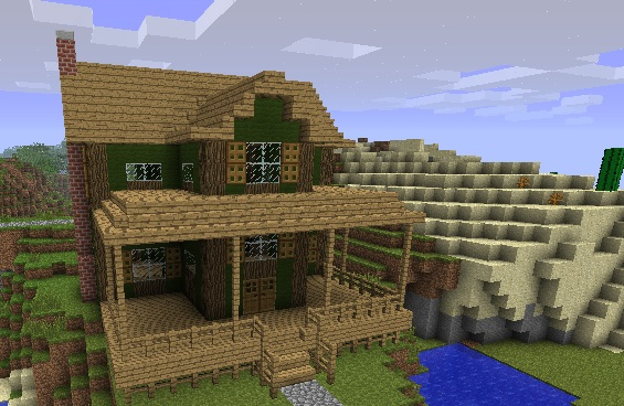 Farmhouse minecraft project for How to build a ranch house