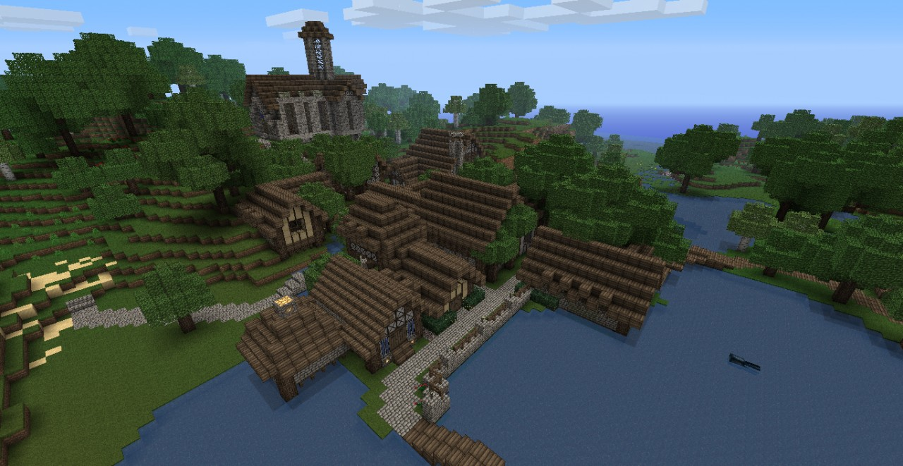 Medieval Fishing Village Dl Updated2 Minecraft Project