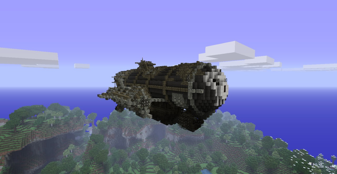 how to build a frigate in minecraft