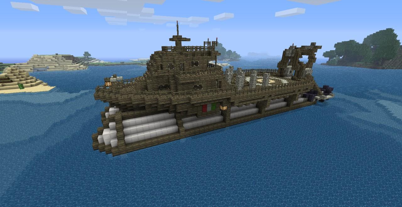 Airship Fleet (Work Boat) Minecraft Project