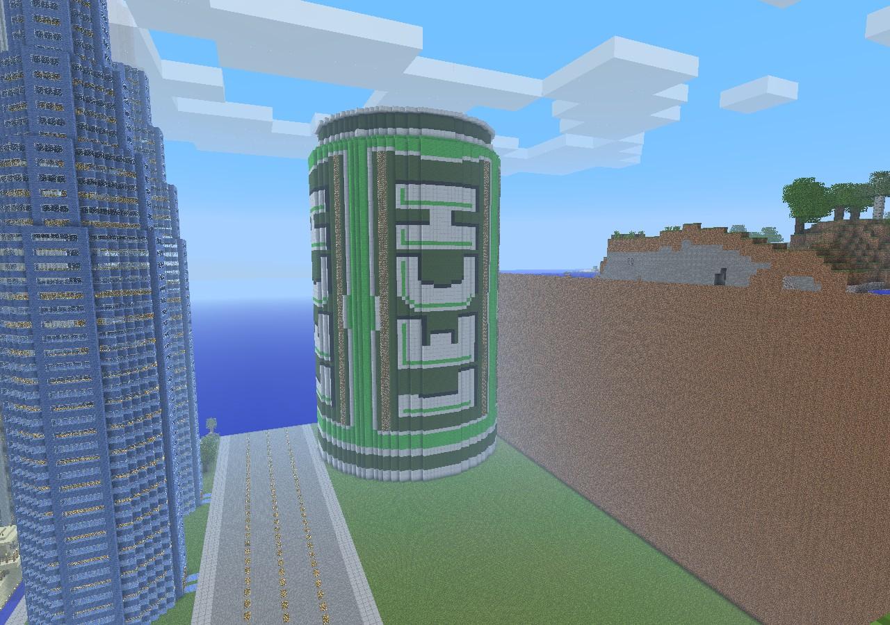 mcworld big beer  petronas tower  wtc minecraft project