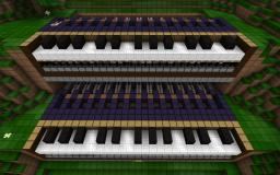 Animated Programmable Piano Minecraft Map & Project