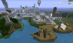 Icaria Inspired City Minecraft Map & Project