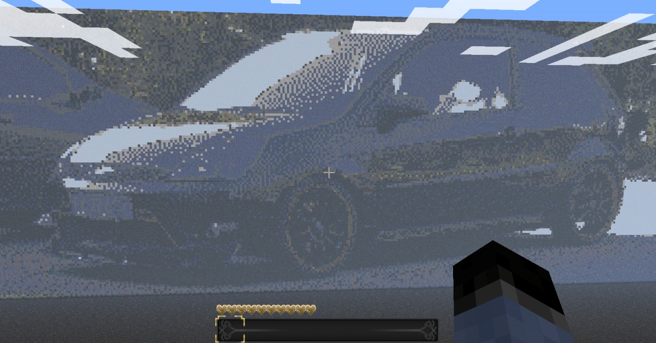 My Own Car As Pixel Art Minecraft Project