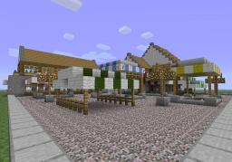 Market square with trade office and hall (for bad weather) Minecraft