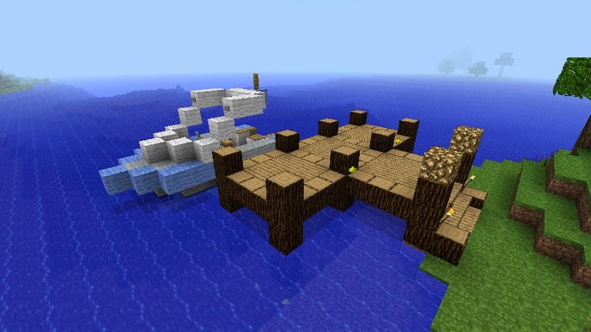 Dock Boat Minecraft Recipe