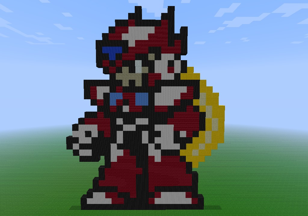 Zero Pixel Art Megaman Minecraft Project