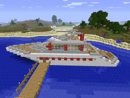 Red and White Yacht Minecraft Map & Project