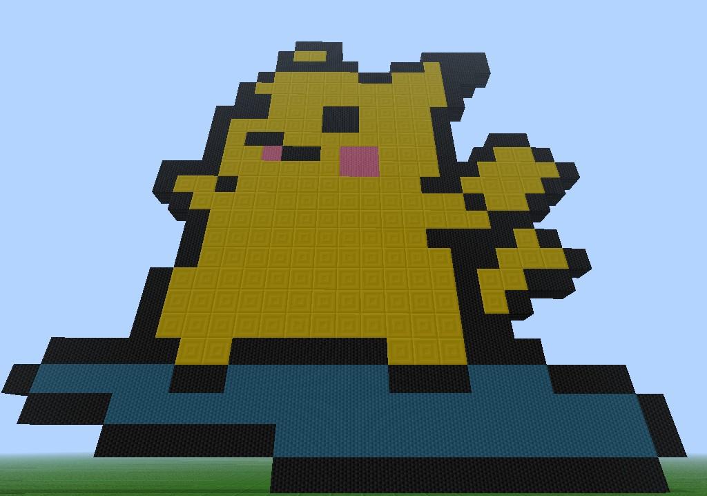 *Surfing Pikachu Pixel Art* Minecraft Map