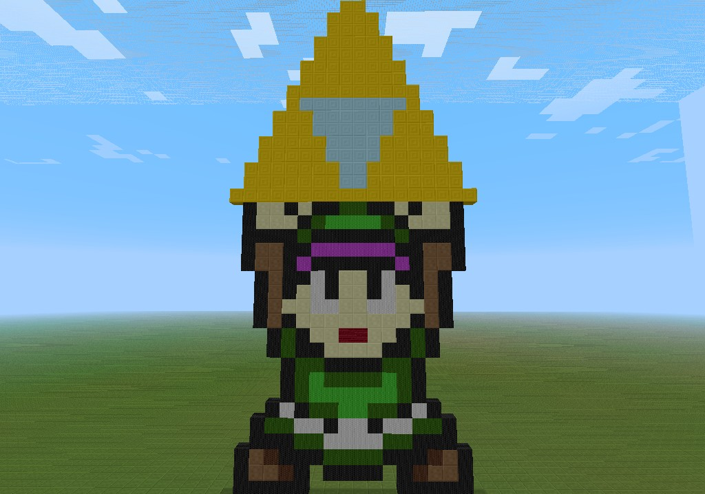 Link With Triforce Pixel Art Minecraft Project