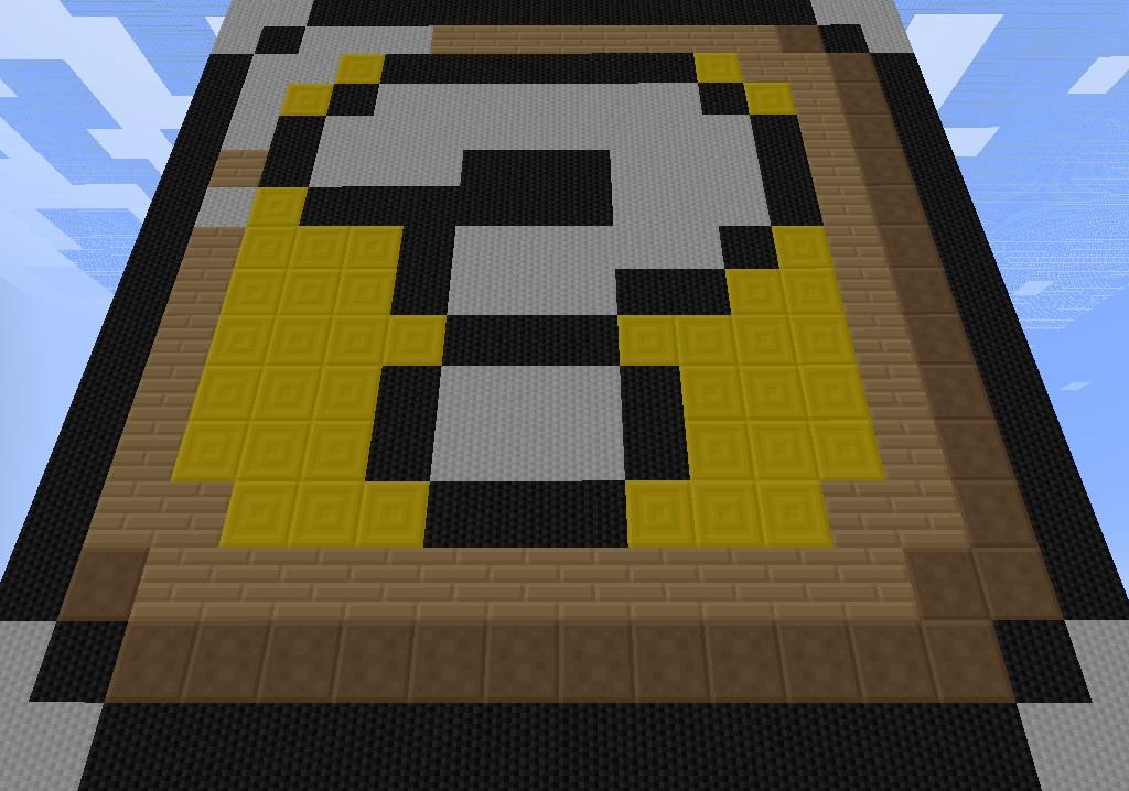 mario mystery box pixel art minecraft project