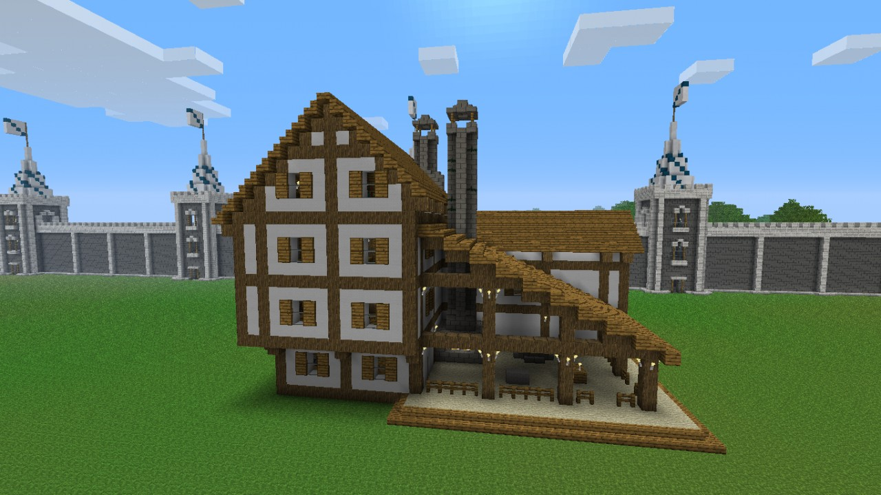Blacksmiths Shop amp House Minecraft Project