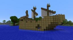 "5-gun xebec - ""Elysia"" Minecraft Map & Project"