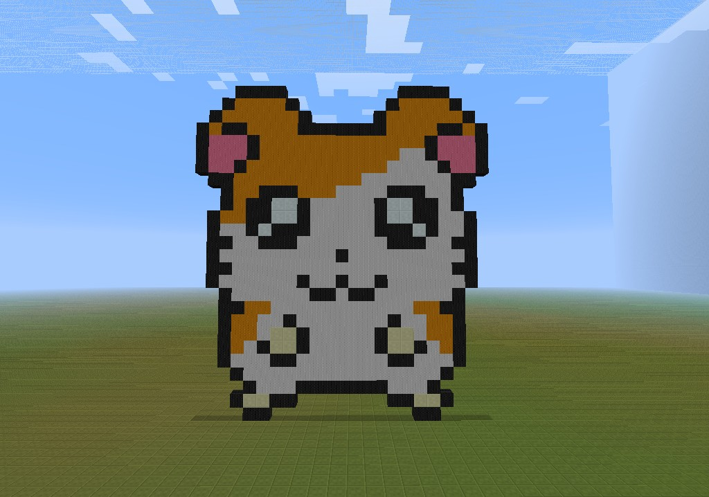 Hamtaro Pixel Art* Minecraft Project