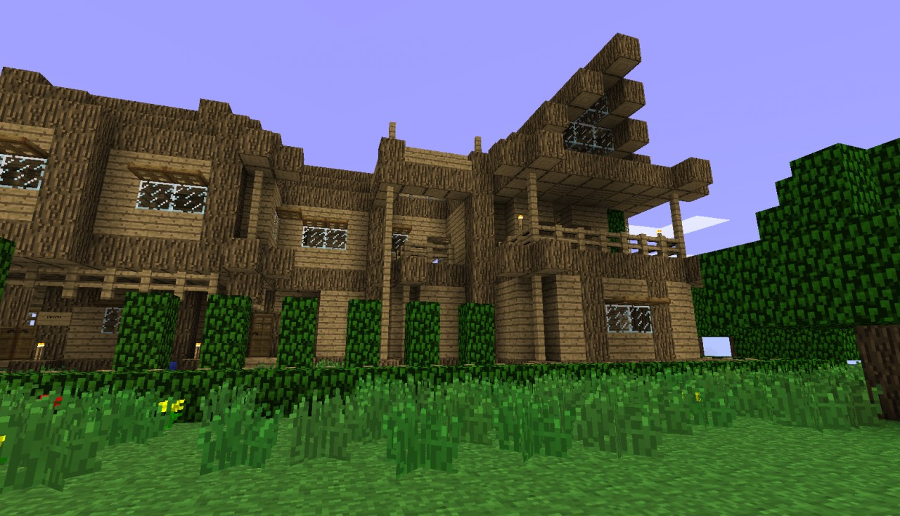 Minecraft small wood house the image for Small wooden house
