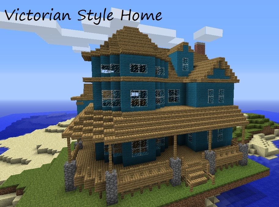 Victorian style home minecraft project for House building ideas
