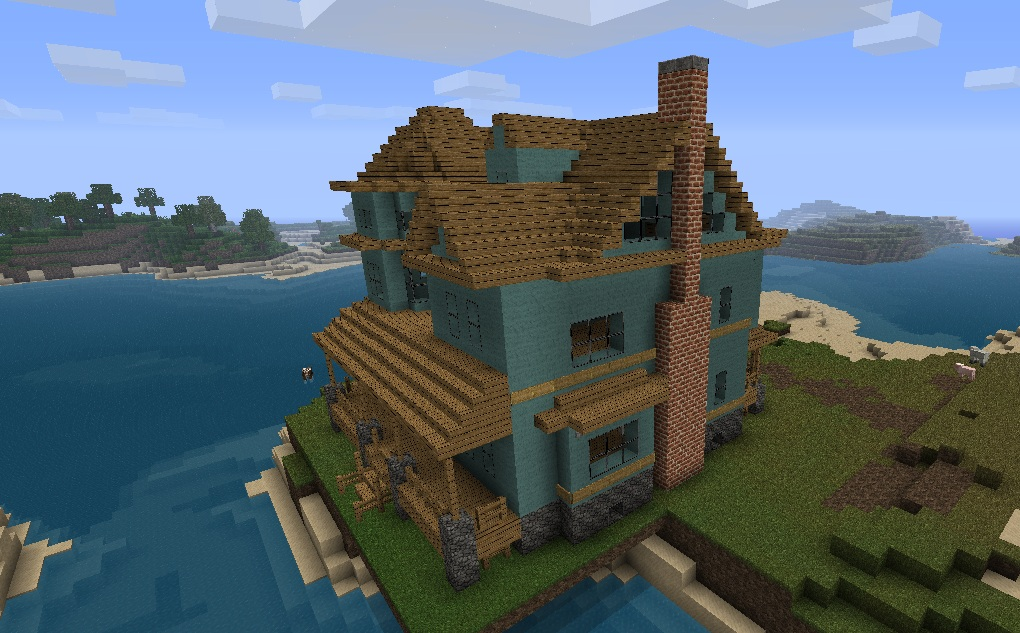 The Gallery For Victorian House Minecraft