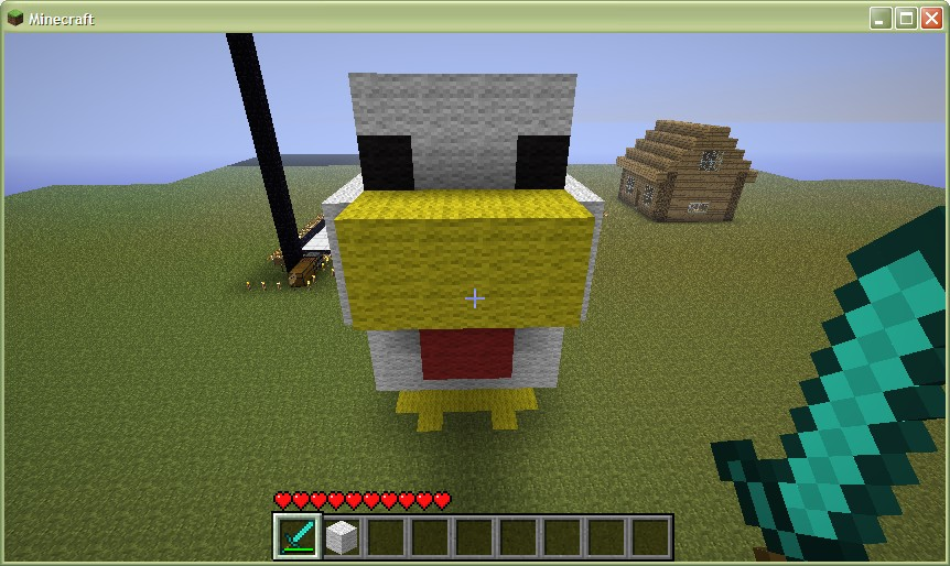 Chicken Minecraft Style Giant Chicken Minecraft