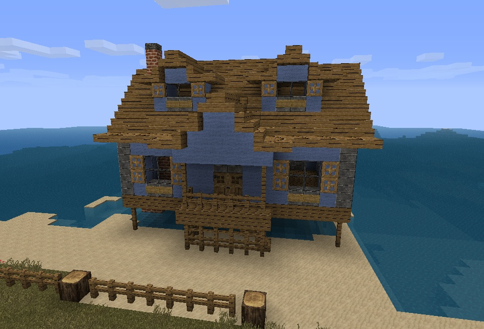 minecraft how to make a beach house