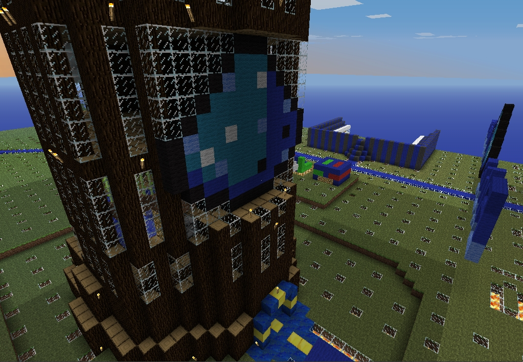 the blueprint tower minecraft project
