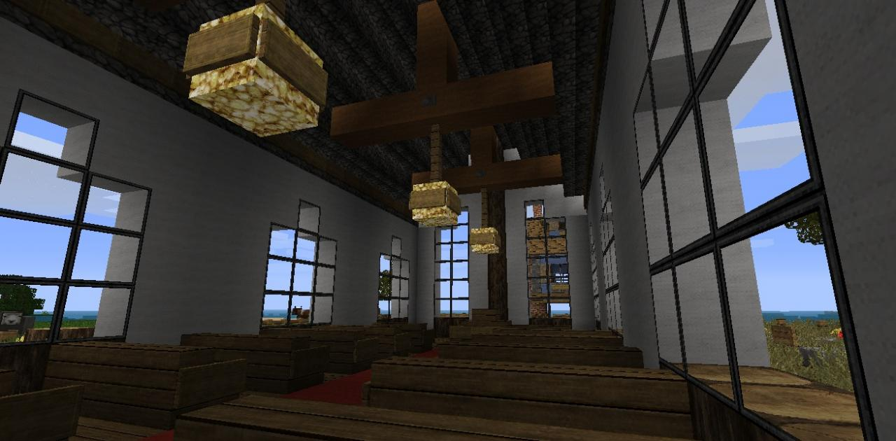 how to build a small church in minecraft
