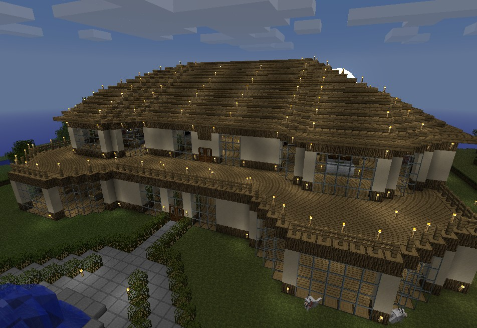 My minecraft mansion minecraft project for Big modern houses on minecraft