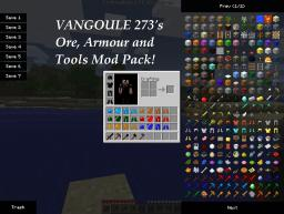Vangoule273's Ore, Armour and Tools Mod Pack! (1.8.1) Minecraft Mod