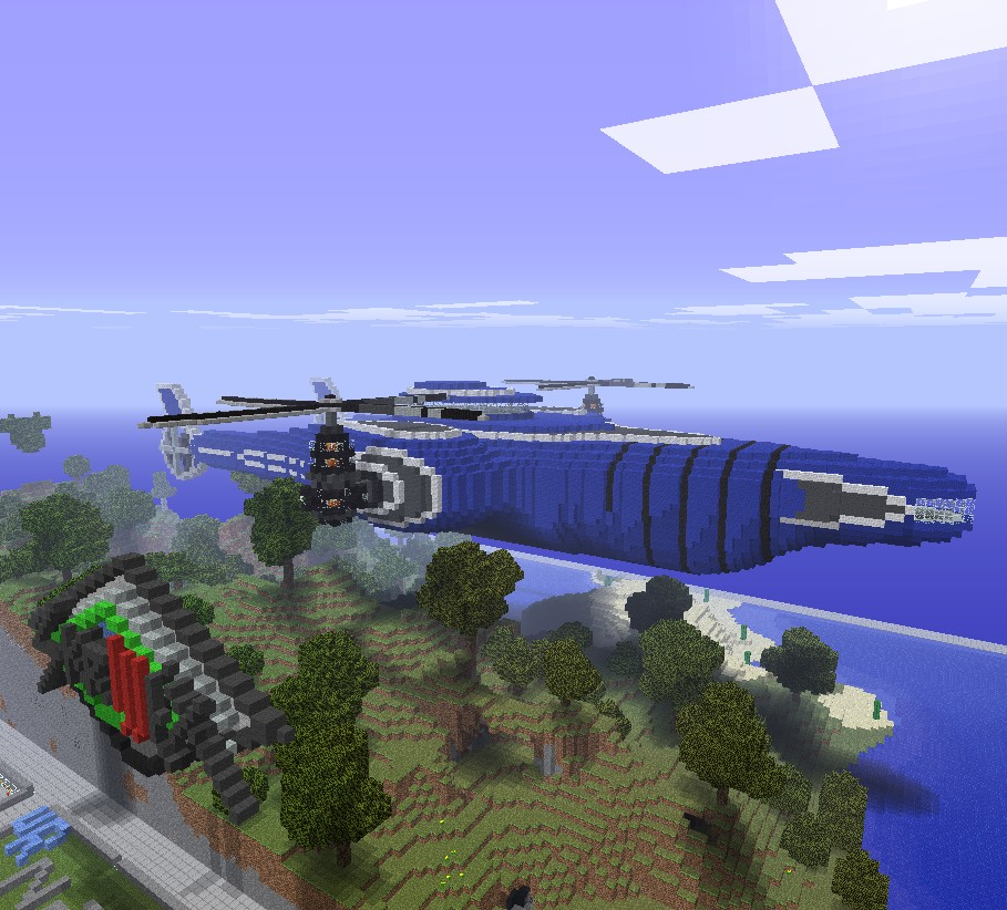 Airship by Spongemandan. Found east of mv1 spawn.