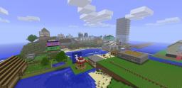 Huge Server City + World Save Minecraft Map & Project
