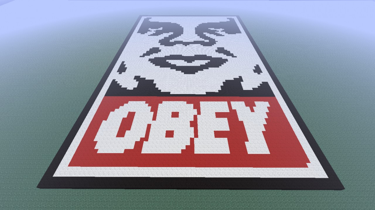 OBEY Big Pixel Picture Minecraft Project