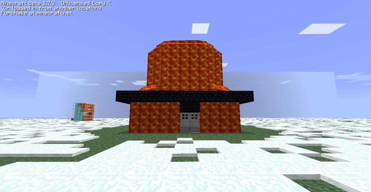 Double Storey Lava House Minecraft Map