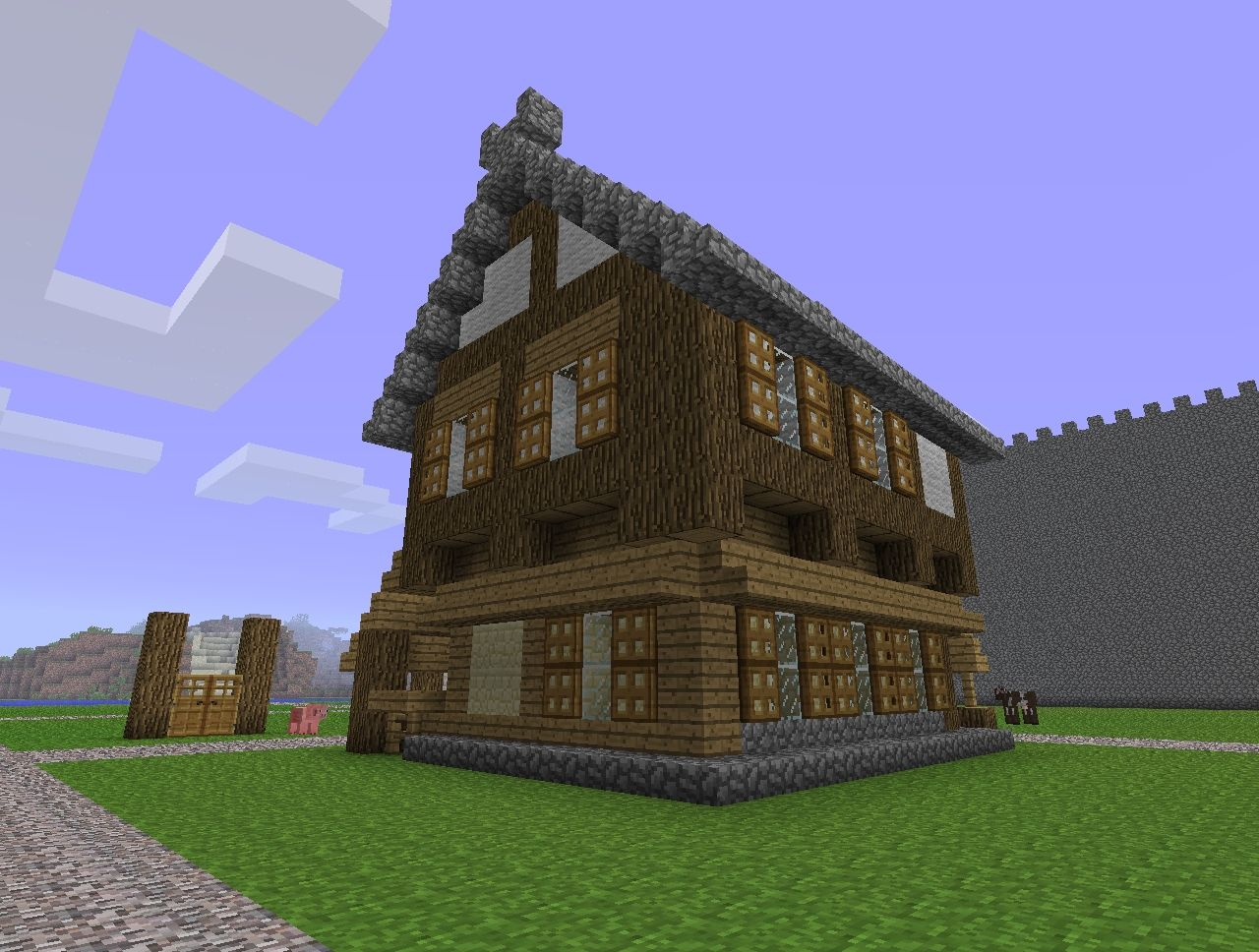 Get Blueprints For My House Small Medieval Tavern Building Minecraft Project